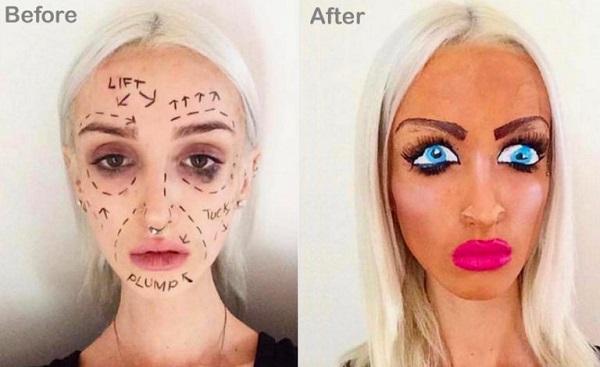 до и после химической эксфолиации