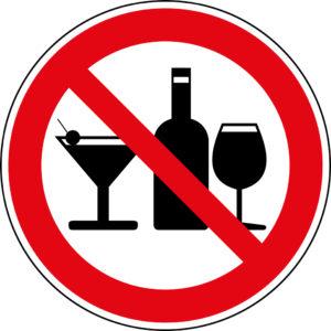 запрещающий знак алкоголь