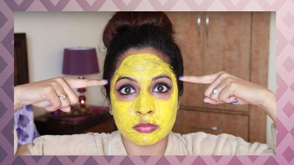 желтая маска в салоне красоты
